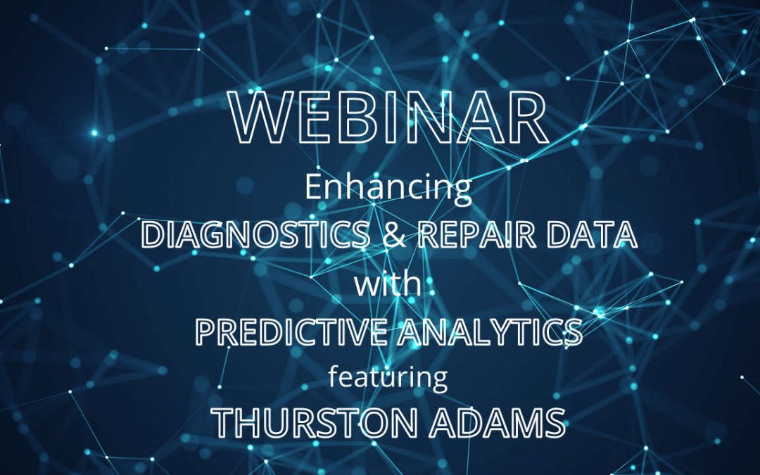 Webinar – Enhancing diagnostics & repair data with predictive analytics